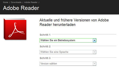 Adobe Reader Freeware ältere Versionen