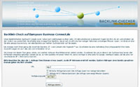 Backlink Checker von European-Business-Connect